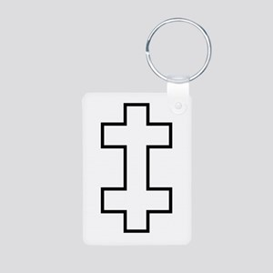 Lithuania Roundel Aluminum Photo Keychain