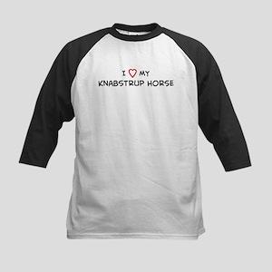 I Love Knabstrup Horse Kids Baseball Jersey