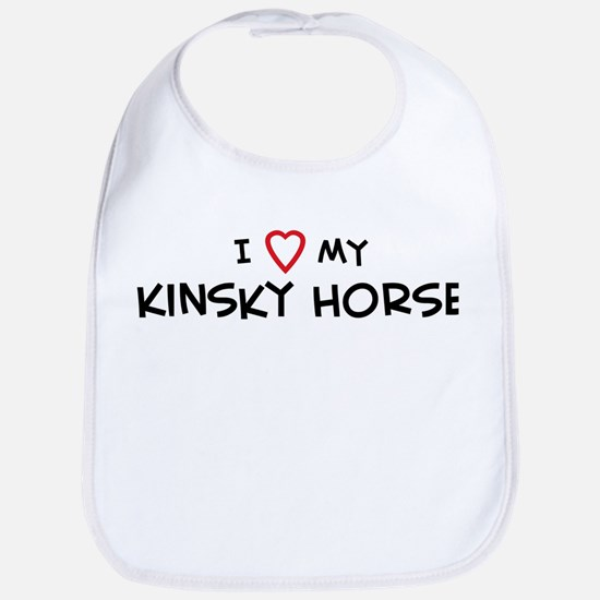 I Love Kinsky Horse Bib
