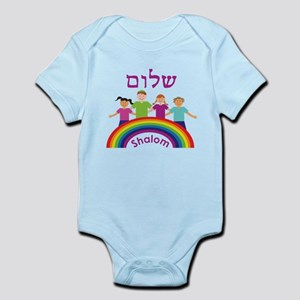 Rainbow Pink Shalom Infant Bodysuit