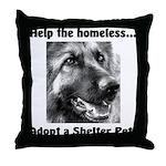 Help The Homeless Throw Pillow