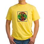Celtic Artwork Designs Yellow T-Shirt