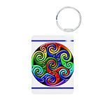 Celtic Artwork Designs Aluminum Photo Keychain