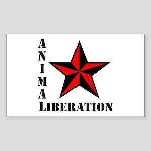 Animal Liberation: STAR Rectangle Sticker