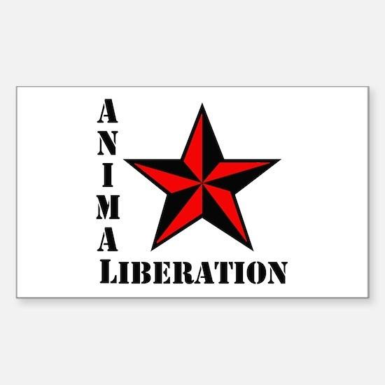 Animal Liberation: STAR Rectangle Decal