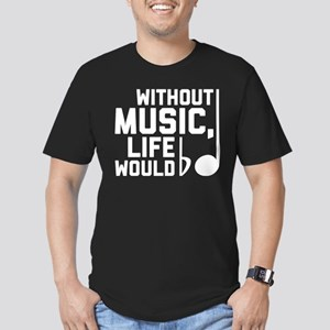 Without Music Life Wou Men's Fitted T-Shirt (dark)