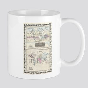 Vintage World Climate & Vegetation Map (1861) Mugs