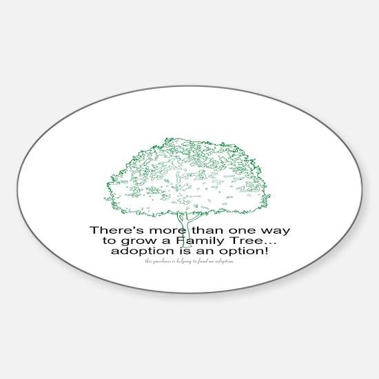 Cute Adoption children Sticker (Oval)