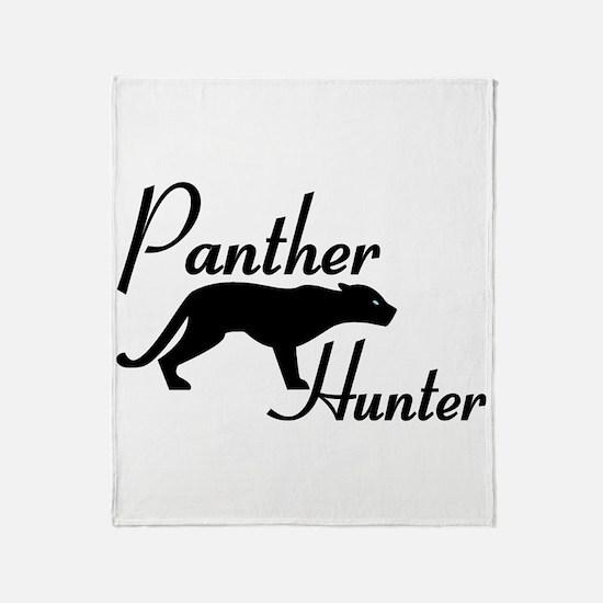 Panther Hunter Throw Blanket