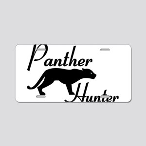 Panther Hunter Aluminum License Plate