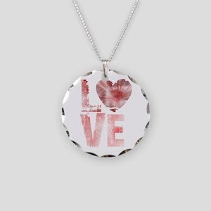 L O V E Necklace Circle Charm