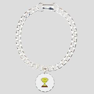 Trophy Husband Charm Bracelet, One Charm