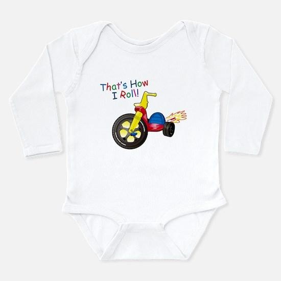 Big Wheel Kid's Long Sleeve Infant Bodysuit