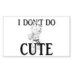 I Don't Do Cute - Cat Sticker (Rectangle 10 pk)