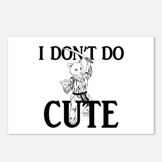 I Don't Do Cute - Cat Postcards (Package of 8)
