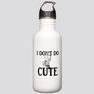 I Don't Do Cute - Cat Stainless Water Bottle 1.0L