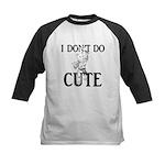 I Don't Do Cute - Cat Kids Baseball Jersey