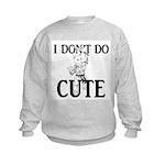 I Don't Do Cute - Cat Kids Sweatshirt