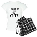 I Don't Do Cute - Cat Women's Light Pajamas