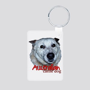 Australian Cattle Dog Aluminum Photo Keychain