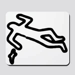 Murder, Inc. Chalk Outline Mousepad