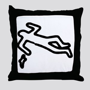 Murder, Inc. Chalk Outline Throw Pillow