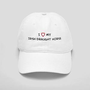 I Love Irish Draught Horse Cap