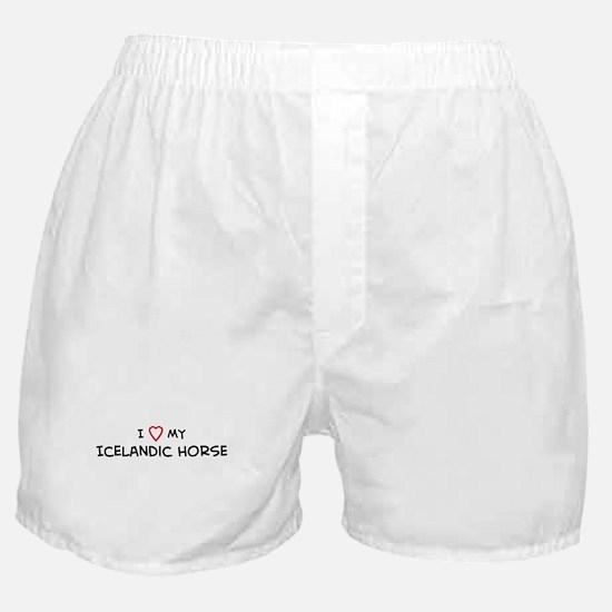 I Love Icelandic Horse Boxer Shorts