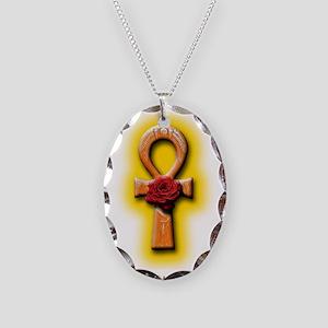 Ra Rose Ankh Necklace Oval Charm