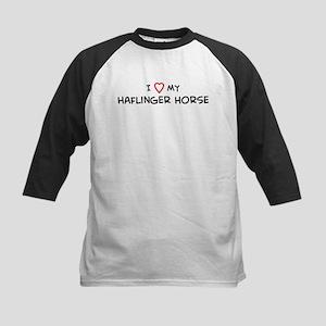 I Love Haflinger Horse Kids Baseball Jersey