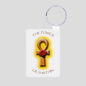 The Power/Ra Rose Ankh Aluminum Photo Keychain