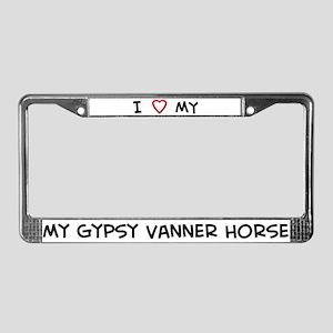 I Love Gypsy Vanner Horse License Plate Frame