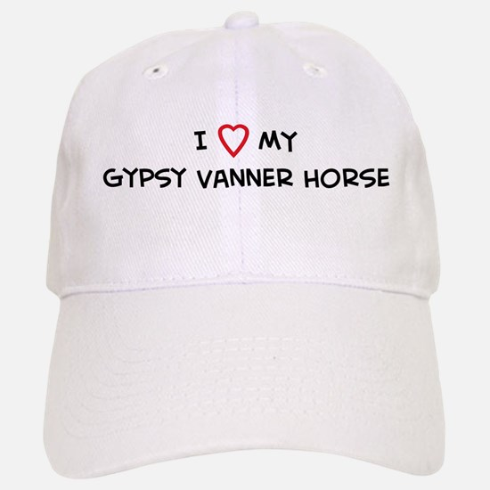 I Love Gypsy Vanner Horse Baseball Baseball Cap