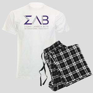 Sigma Lambda Beta Letters Men's Light Pajamas