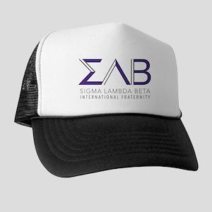 Sigma Lambda Beta Letters Trucker Hat