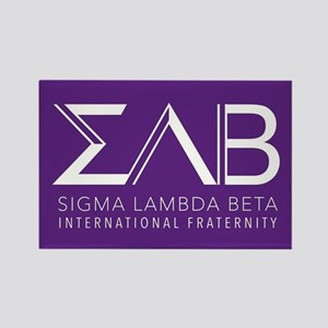 Sigma Lambda Beta Letters Rectangle Magnet