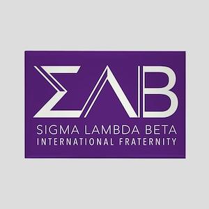 Sigma Lambda Beta Letters Rectangle Magnet
