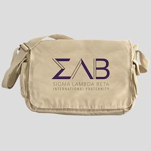 Sigma Lambda Beta Letters Messenger Bag