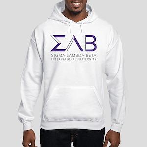 Sigma Lambda Beta Letters Hooded Sweatshirt