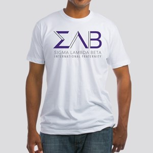 Sigma Lambda Beta Letters Fitted T-Shirt