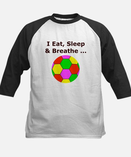 Soccer, Eat, Sleep & Breathe Kids Baseball Jersey