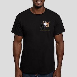 German Shepherds Rock Men's Fitted T-Shirt (dark)