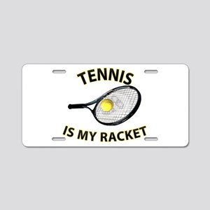 Tennis Racket Aluminum License Plate