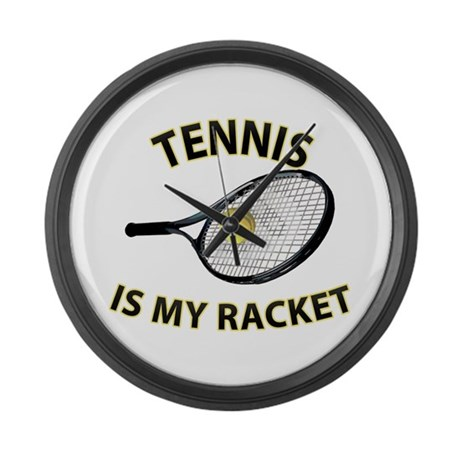 Tennis Racket Large Wall Clock
