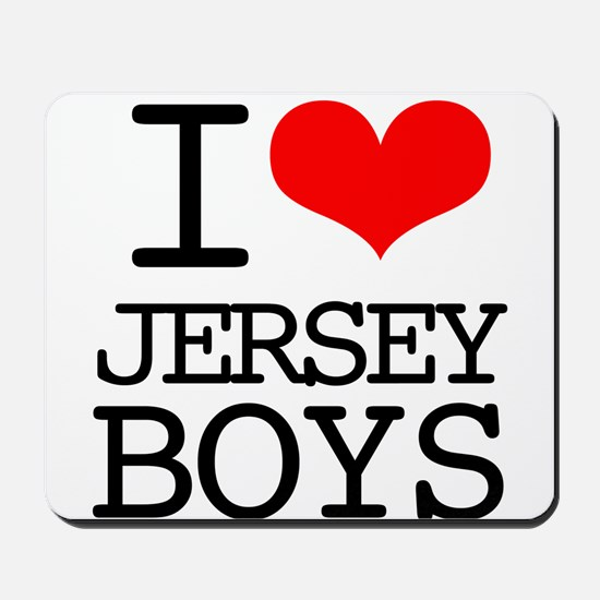 I Heart Jersey Boys Mousepad