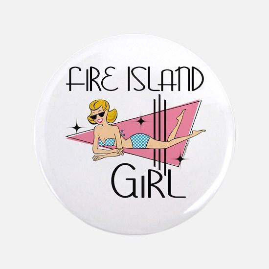 """Fire Island Girl 3.5"""" Button"""