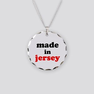 Made in Jersey Necklace Circle Charm
