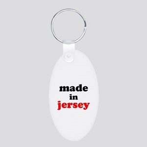 Made in Jersey Aluminum Oval Keychain