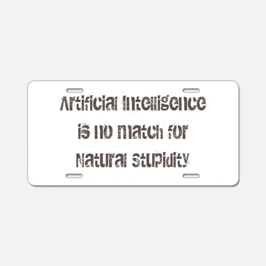 Artificial Intelligence Aluminum License Plate