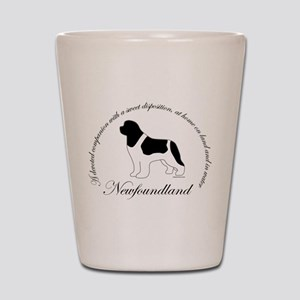 Devoted Landseer Newf Shot Glass